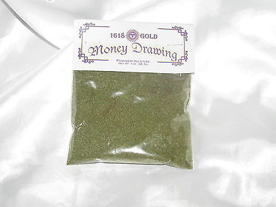 Money Drawing Powdered Incense 1 oz  1618 Gold Wicca Pagan