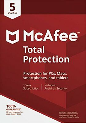 Mcafee 2018 Total Protection 1 Jahr 5 Gerät Anti Virus /Internet Security