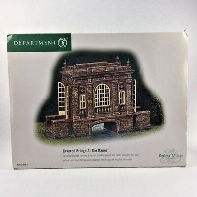 Department 56 Dickens Village Covered Bridge At The Manor 2002 With Box 56 58565