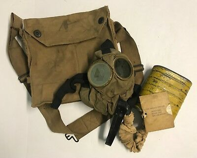 Original WWI US Respirator Named To Battery A 68th Artillery Vet