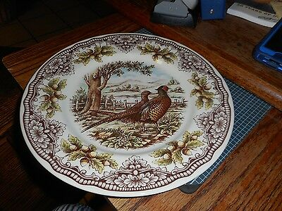 """New Victorian English Pottery Pheasant 8 1/2"""" Plate (s)"""