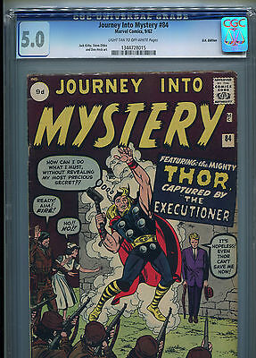 Journey Into Mystery # 84 - Second Appearance Of Thor - Cgc 5.0 - Key - 1962