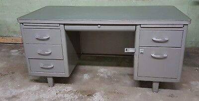 Vintage Mid Century Tanker Desk Invincible Metal Furniture