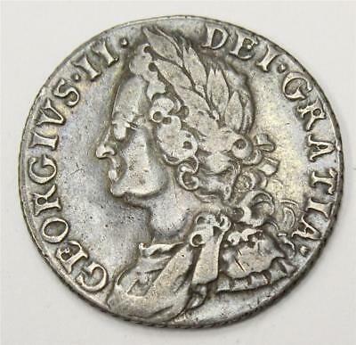 1758 shilling Great Britain Large-58 S3704 VF20