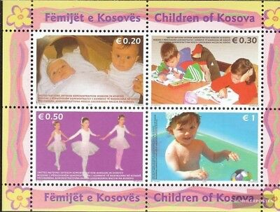 kosovo (UN-Administration) block2 mint never hinged mnh 2006 Children