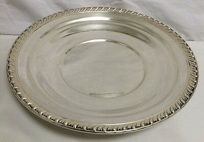 """WALLACE 925 STERLING SILVER 10"""" HALIFAX PLATE H103 WAITER TRAY 8.8 oz 249.5 gm"""