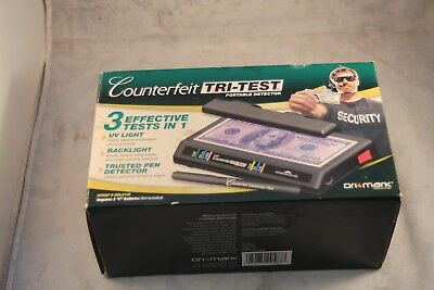 UV Counterfeit Detector Machine Detection Test Fake Money Bill Cash +Checker Pen