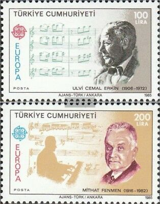 Turkey 2706-2707 mint never hinged mnh 1985 Year the Music