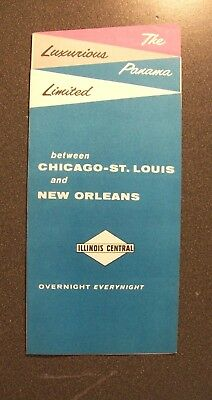Ic Illinois Central Railroad - The Panama Ltd 1964 Chicago-St.louis-New Orleans