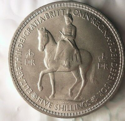 1953 GREAT BRITAIN CROWN - High Quality Scarce Coin - Lot #810