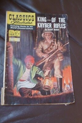 Vintage 1960s comic Classics Illustrated US. #107. King Of The Khyber Rifles.