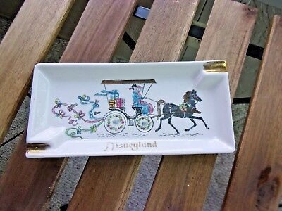 VINTAGE Disneyland Ceramic Ashtray Copyright Disney Prod. Horse Carriage