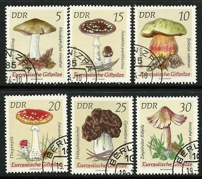 1974 East Germany - Poisonous Fungi (6) CTO