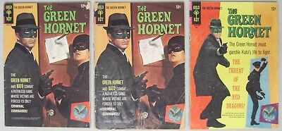 Lot Of 3 Issues Of The Green Hornet #1 (2 Issues) & #2 Gold Key Comics Bruce Lee