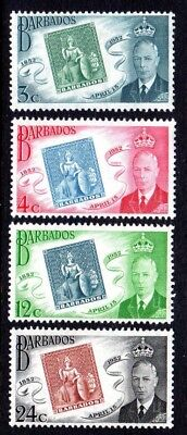 1952 BARBADOS STAMP CENTENARY SG285-288 mint unhinged