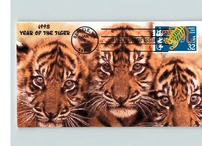 YEAR of the TIGER, 1998 Chinese New Year, First Day of Issue