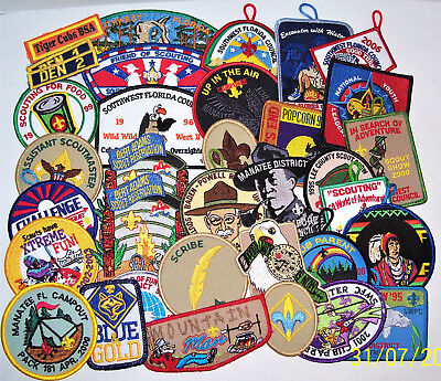 Large Collection Of 35 'boy Scouts Of America' Patches