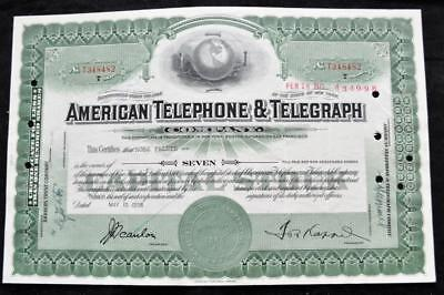 1958 American Telephone and Telegraph Stock Certificate