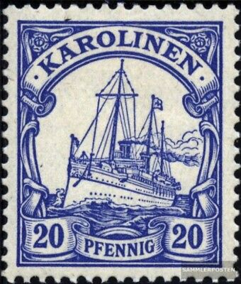 Carolines (German colony) 10 with hinge 1901 Ship Imperial Yacht Hohenzollern