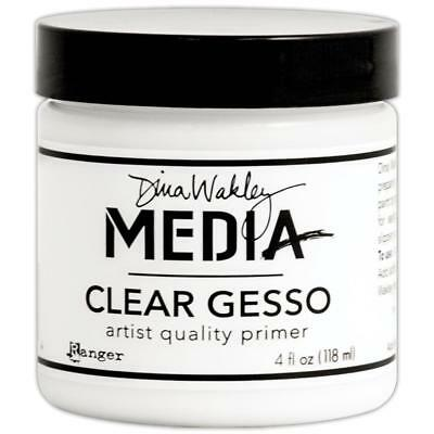 Dina Wakley Media Clear Gesso -  4 fl oz (118 ml)