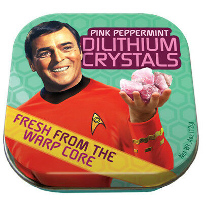 Classic Star Trek Dilithium Crystals Mints in Illustrated Tin Box One NEW SEALED