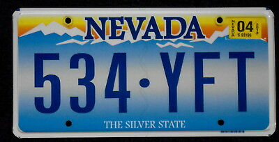 NEVADA High Sierra Mountains Sunrise The Silver State License Plate 534 YFT