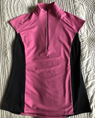SONNENREITER Sz L Hot Pink And Black Riding Top Never Worn RRP $89