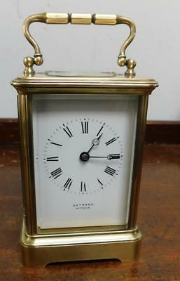 gatward - hitchin brass cased carriage clock