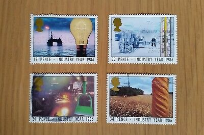 Complete used GB stamp set - 1986 Industry Year