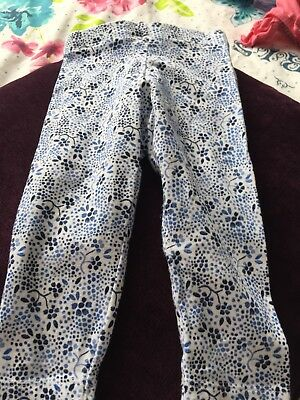 6-9 Months Baby Girls Blue Floral Leggings From F&F