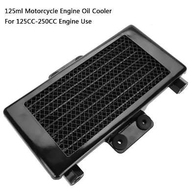 Aluminum 125ml Motorcycle Engine Oil Cooler Cooling Radiator for 125CC-250CC