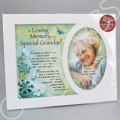 In Loving Memory of a Special Grandad Photo Frame Mount Tribute Memorial Plaque
