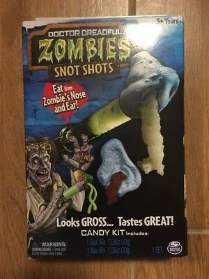 Doctor Dreadful Zombie Snot Shots NEW Spin Master Eat from Zombie's Nose & Ear