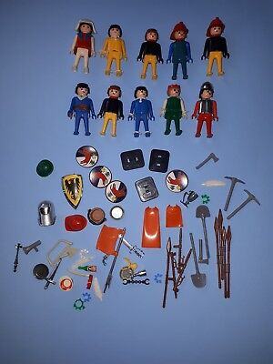 PLAYPEOPLE 10 figures + over 30 accessories vintage 1970's RARE Playmobil