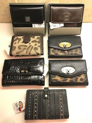 Wholesale LOT of 7 Women's wallets NAME BRAND with tags various brands