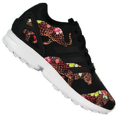 Adidas Originals x The Farm Oncada Zx Flux Sneaker Donna Leopardo Fiori  Scarpe 0a3e6c615bd