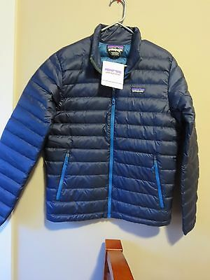 Mens New Patagonia Down Sweater Jacket Size Small Color Navy Blue