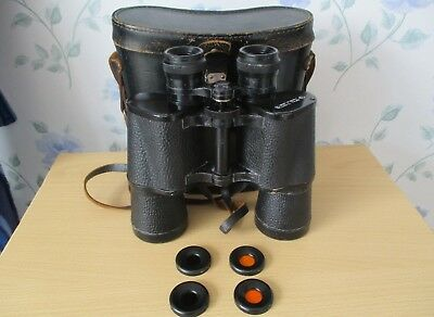 GOOD QUALITY RUSSIAN / CCCP/ USSR  BINOCULARS & CASE PLUS  FILTERS  No 7434616