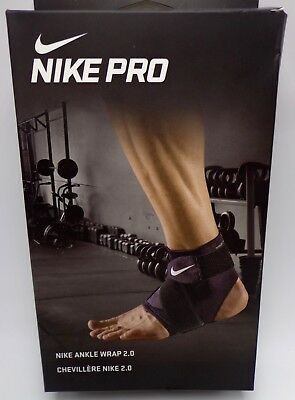new styles 207c7 c124f Nike Pro Combat Ankle Wrap 2.0 BlackWhite Mens Womens Large