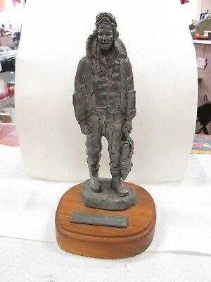 Michael Ricker THE AMERICAN AIRMAN Pewter Statue