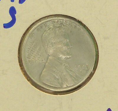 1943s 1943 s 1943-s Lincoln steel wheat cent penny uncirculated unc
