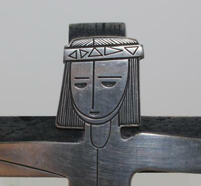 MODERNIST MEXICAN TALLERES MONASTICOS STERLING JESUS on CROSS WALL ART, SIGNED