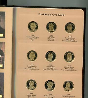 2007 - 2016 S President Dollar 4 Coin Proof Full Set With Album