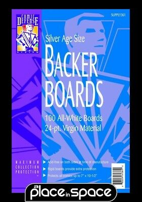 100 Silver Age Comic Backing Boards (Free Uk Shipping) Cds Supply361
