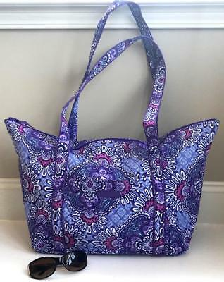 """Vera Bradley """"Lilac Tapestry"""" MILLER TRAVEL TOTE BAG Trolley Sleeve Carry On NWT"""