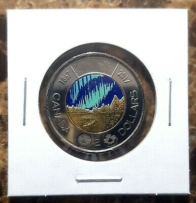 Canada 2017 Dance of the Spirits *Glow in the Dark* Toonie Coloured From Roll!!