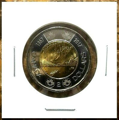 Canada 2017 Dance of the Spirits Toonie Plain From Mint Roll!!