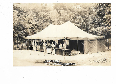 Rivervale, Indiana  Pop Tent Real Photo Postcard
