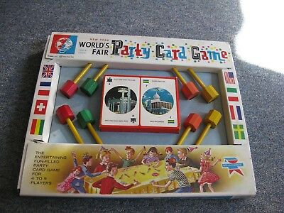 1964 65 New York Worlds Fair CHILDREN'S Party Card Game Excellent!