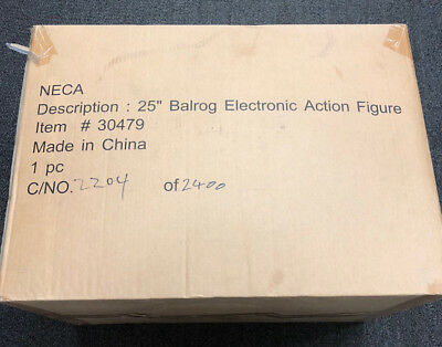 """Lord of the Rings NECA 25"""" Balrog Electronic Action Figure NIB 2204/2400"""